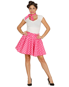 Zestaw pin up różowy damski