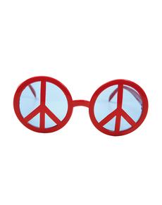 Okulary z symbolem pokoju czerwone dla dorosłych
