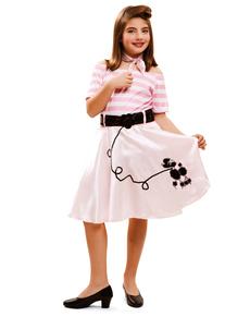 Kostium młoda modna lata 50. dla dziewczynki