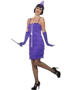 Kostium dama w fioletowym lata 20. damski
